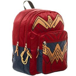 Wholesale Super Fashions Bags - Wonder Woman backpack Super hero authoritative daypack Offical schoolbag Film rucksack Sport school bag Outdoor day pack