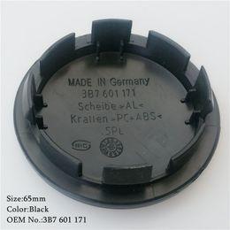 Wholesale Hub 65mm - 4pcs face diameter 65mm wheel center cap hub cap Logo badge emblems EOS Golf Jetta Mk5 Passat B6 for VW 3B7 601 171