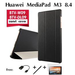 "Wholesale Cover Tablet Huawei Mediapad - Wholesale-For Huawei MediaPad M3 holster BTV-W09 case BTV-DL09 new tablet PC 8.4"" ultra-thin tablet leather protective case shell cover"