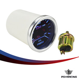 """Wholesale Digital Oil Press - PQY RACING- Oil press gauge 2""""52mm Digital Wideband Oil pressure gauge tachometer auto gauge car meter parts(white) PQY-TAG05-OP"""