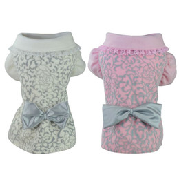 Wholesale Princess Dog Coat -  Lace Pet Cat Dog Clothes Princess Style Dog Coats Pet Coats Cachorro Bow-Knot Coat