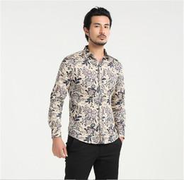 b146de2edbb 2017new fashion brand chinese style flower print shirt long sleeve mens  cotton shirt for sale