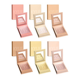 Wholesale Face Shimmer - 2017 kylie jenner Shimmer Kylighter Highlighter Face Makeup Palette Eyeshadow Blush Contour Highlighter Cosmetic Kylie glow kit 6 colors