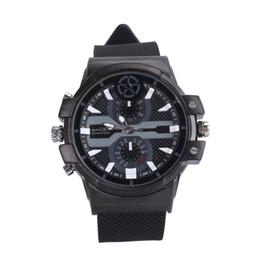Wholesale H Camera - Super HD 2304X1296 motion detection H.264 2K Spy Watch Camera 16G 32G Leather Strap