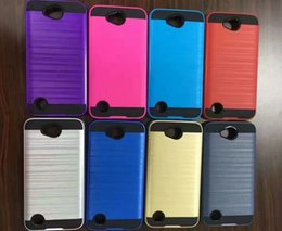 Wholesale Black Trio - Armor Drawing Wire Phone Cases For ZTE Warp 7 Avid Trio  N9131 TPU+PC 2 in 1 Slim ShockProof Anti-Fall Defender Cover Case
