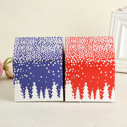 Wholesale Decoration Cake Boxes - Gift Box Red House Snow Candy Biscuit Cookies Cake Box Christmas Eve Apple Boxes Party Decoration Wholesale ZA4228