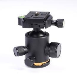 "Wholesale Quick Release Mount Plate - Wholesale- 12Kg Metal Swivel Camera Tripod Ball Head Ballhead Rocker+1 4"" Screw Mount Quick Release Plate QR"