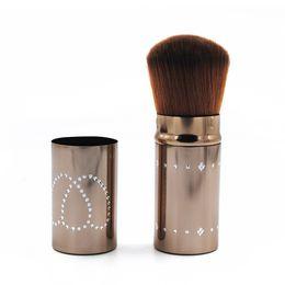 Wholesale Telescopic Kit - Professional 1pcs Makeup Brush kit Maquiagem Beauty Tool Metal Telescopic Makeup Brushes Cheek Blusher Powder Blush Make Up Tools