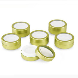 Wholesale Abs Lid - 40ml cream Case 40g Round Matte ABS Can Cosmetic cream box Window lids case Empty Container Tea Tin F2017300