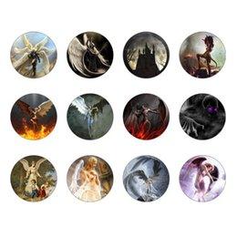Wholesale Devil Watch - 12PCS lot Angel and devil Charm Bracelets Bracelets For Pulseras Watch For Bracelet Picture Pendant 18mm Snap Jewelry GS2526