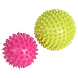 Wholesale Spiky Balls - Wholesale-No Side Effect Spiky Trigger Point Massage Ball Roller Reflexology Stress Relief for Palm Foot Arm Neck Back Body Health Care