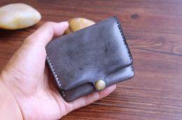 promotions de bronzage Promotion En gros original végétal de bronzage en cuir véritable petit porte-monnaie / portefeuille fait main à la main spécial leaether / mode coudre portefeuilles / OEM sont les bienvenus
