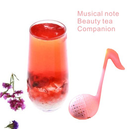 Wholesale Sign Tools - Creative Music Musical Signs Cup Filters, Tea Filters, Beauty Tea, Red Rose Tea, Drinks, Tools Drinkware Tea strainers.