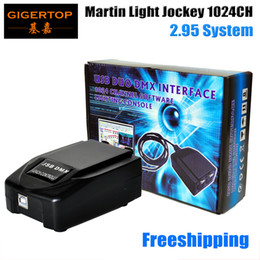 Wholesale 512 dmx controller - High-tech Martin Light jockey USB 1024 DMX 512 DJ Controller jockey 3 Pin 1024 USB DMX Controller CE Certificate