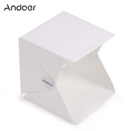 Wholesale Andoer Folding Foldable Portable Mini Photography Lightbox Studio for iPhone Samsang LG HTC Smartphone Digital or DSLR Camera D3828