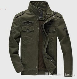 Wholesale Collared Military Vest - Men Military Army jackets plus size 6XL Brand 2016 Hot cost outerwear embroidery mens jacket for aeronautica militare