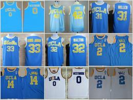 Wholesale Ball Stops - UCLA Bruins College Basketball Jerseys 0 Russell Westbrook 42 Kevin Love 33 Abdul Jabbar 31 Reggie Miller 32 Walton 2 Lonzo Ball Zach LaVine