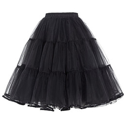 Wholesale Ladies Cocktail Dresses White Blue - Real Image Knee Length Skirts Young Ladies Women Bust Skirts Adult Tutu Tulle Skirt A Line Ruffles Skirt Party Cocktail Dresses Summer
