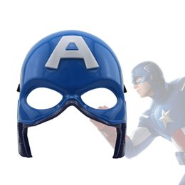 Wholesale Adult Captain America Mask - LED Mask Halloween Captain America The Avengers Masquerade Luminous Mask Decoration Christmas Toy LED Glow Kid Adult Face Day