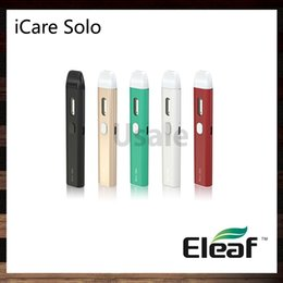 Wholesale Metal Solos - Eleaf iCare Solo Starter Kit With 1.5ml Internal Tank System 350mah Battery 1.1ohm IC Coil Head 100% Original