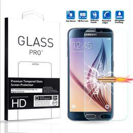 2019 verres trempés blu Protecteur d'écran HD pour Samsung Galaxy S6 S7 S8 Edge A510 J510 en verre trempé protecteur d'écran tactile 3D ultra clair
