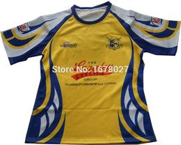 Wholesale cheap jerseys wholesalers - Wholesale- Custom Made Your Own Team 100%polyester Woven Pro Rugby Jerseys Cheap Price