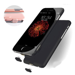 Wholesale Case Charges Iphone - Ultrathin Power bank Charge Case Slim External Battery Cover for iphone 6s 6 7 plus 2000mAh 1500mAh with Retail Package