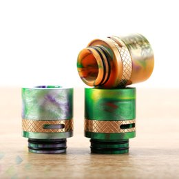 Wholesale Brass Bear - 810 Drip Tip Epoxy Resin and Brass material Drip Tips Vape Air Control Wide Bore Mouthpiece for TFV8 TFV12 Atomizers DHL Free