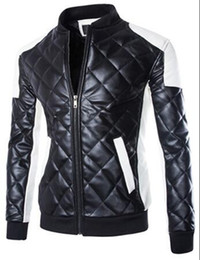 Wholesale Winter Jackets America Europe - Men's winter fashion in Europe and America the new collar bigger sizes of cultivate one's morality locomotive leather jacket   M-5XL