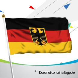 Wholesale German Flags - 90*150cm German State Ensign Flag - Vivid Color and UV Fade Resistant - 100% Polyester Germany Eagle Flags with Brass Grommets