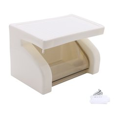 Wholesale Plastic Rolls For Waterproofing - Wholesale- Plastic Roll Paper Box Holder Wall Mounted Toilet For Bathroom Tool Waterproof