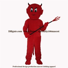 Wholesale Devil Costume Xl - High quality carnival adult demon mascot costume free shipping,Real pictures deluxe party the devil mascot costume factory direct