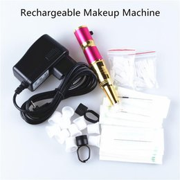 Wholesale Tattoos Machine Cheap Free Shipping - Eyebrow Rechargeable Permanent Makeup Pen+1Pcs Power Supply Tattoo Machine Kit 1 Set Cheap Price Free shipping