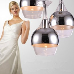 Wholesale Glass Hanging Chandelier - New Chandeliers 3pcs set Wine Glass Pendant Light Hanging Lighting Ceiling Lamp Chandelier Pendant Lamps E14 Bulb Light Ceiling Light Lamps