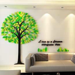 Wholesale Sticker Tree Kids - Wall Stickers For Kids Rooms Mult Size Tree Wall Stickers Acrylic Material Environmental Wall Stickers For Kindergarten Mall