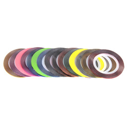 Wholesale Tape Nail Art Designs - 30Pcs Mixed Colorful Beauty Rolls Striping Decals Tips Tape Line DIY Design Stickers Wraps Foil Sticker Nail Art Decorations