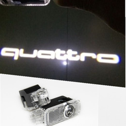 Wholesale Door Led Logo Audi - LED Door Warning Light With For audi Logo Projector For Audi A6 C5 A4 B6 B8 80 A1 A8 TT Q7 Q5 Q3 A3 A5 A7 R8 RS S line S3 S4 S5