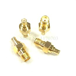 Wholesale Mcx Male Plug - 100 pcs MCX male to SMA female JACK plug straight rf connector adapter