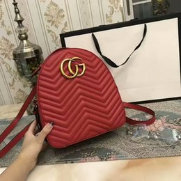 Wholesale Shool Bags - Famous New real Genuine leather backpack shoulder bag 26CM handbag presbyopic Pearl package messenger Shool bag purse SN#99