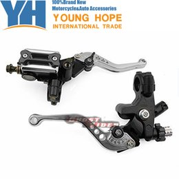 """Wholesale Motorcycle Front Master Cylinder - Universal Standard 7 8"""" Front Motorcycle Brake Clutch Levers Master Cylinder fits Handlebars"""