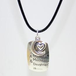 Pendentif mère nouvelle arrivée en Ligne-Nouvelle arrivée Love Amulet Message L'amour entre la mère et la fille pendentifs colliers talisman surnaturel Pour la mère / Daugther bijoux