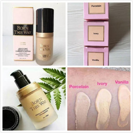 Wholesale foundation color - NEW Makeup Born This Way COVERAGE Foundation Liquid 3 color 30ML free shipping in stock