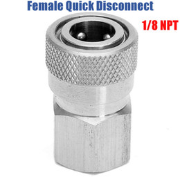 """Wholesale Paintball Filling - Paintball PCP Charging Fill Fitting 8mm Copper Stainless Quick Disconnect Connector 1 8"""" NPT Female Socket Realse"""