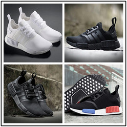 Wholesale Red Floors - NMD_R1 PK Running Shoes 2017 new design Wholesale man women NMD Runner Pk Ultra Boost White Black Triple Red sport running shoes sneaker