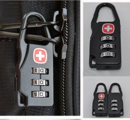 Wholesale Numbered Locks - Swiss Cross Symbol Combination Safe Code Number Lock Padlock for Luggage Backpack Bag Suitcase Drawer Cabinet