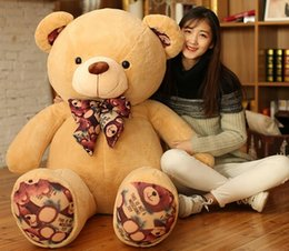 Wholesale Teddy Bears For Valentines - Printed Flower teddy bear giant huge Large teddy bears stuffed skin plush toys dolls for Birthday Valentines christmas Gifts toycity