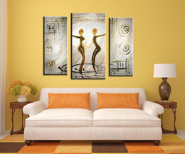 Wholesale Painting Garden Home - Wall art Home & Garden Arts, Crafts & Gifts Household goods Home wall art Paintings 3 combined painting Hundred Handmade Canvas oil painting