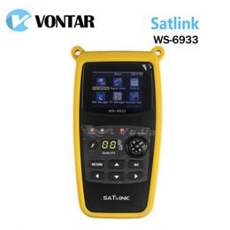 Wholesale Satellite Meters - [Genuine] Satlink WS6933 DVB-S2 FTA C&KU Band Digital Satellite Finder Meter With 2.1 inch LCD Display