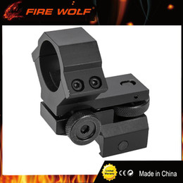 Wholesale FIRE WOLF mm Ring Tactical Laser Sight Flashlight Rifle Scope Low Mount Adjustable Elevation Windage for mm Rail System