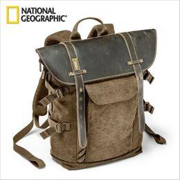 Leinwand slr kamerataschen online-Großhandel- Großhandel NG A5290 Rucksack SLR Kameratasche Canvas Laptop Fototasche